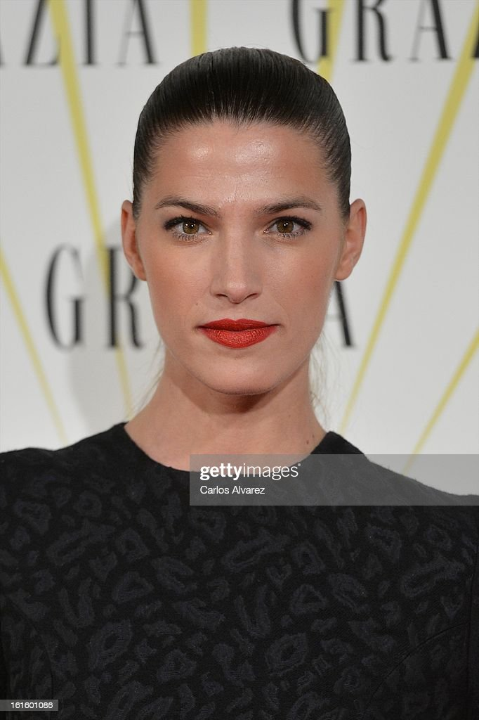 Spanish model Laura Sanchez attends the 'Grazia' magazine launch party at the Price theater on February 12, 2013 in Madrid, Spain.