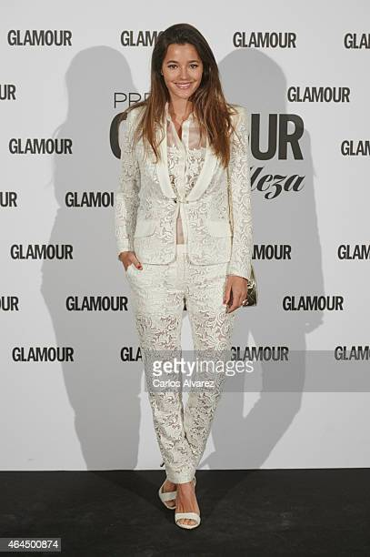 Spanish model Malena Costa attends the 'Glamour Beauty' magazine awards at the Palace hotel on February 26 2015 in Madrid Spain