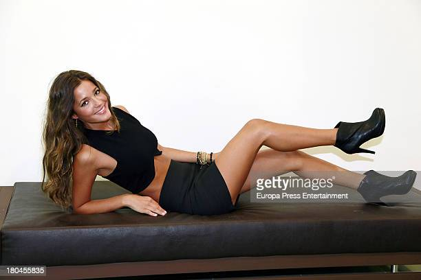 Spanish model Malena Costa is the new image for 'Refresh' shoes brand and poses during the presentation on September 6 2013 in Madrid Spain