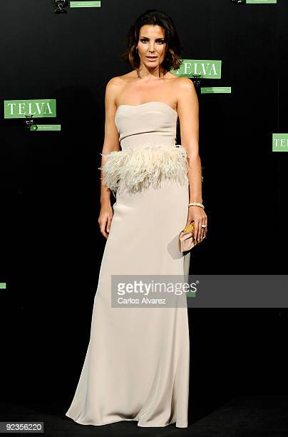 Spanish model Mar Flores attends 2009 TELVA magazine Fashion Awards at El Canal Theatre on October 26 2009 in Madrid Spain
