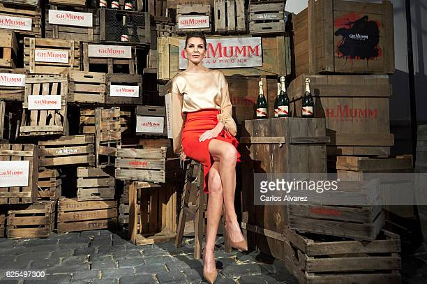 Spanish model Mar Flores attends 'Maison G.H.Mumm' 8th edition presentation on November 24, 2016 in Madrid, Spain.