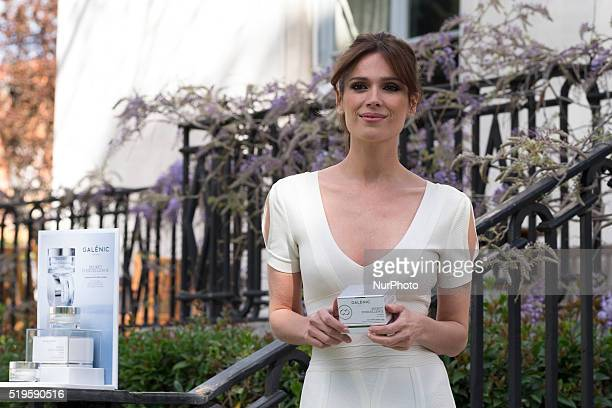 Spanish model Mar Saura presents 'Galenic' new collection at the French Embassy on April 7 2016 in Madrid Spain