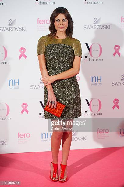 Spanish model Maria Jose Suarez attends Yo Dona Magazine pink number hosted by Swarovski at NH Eurobuilding Hotel on October 18 2012 in Madrid Spain