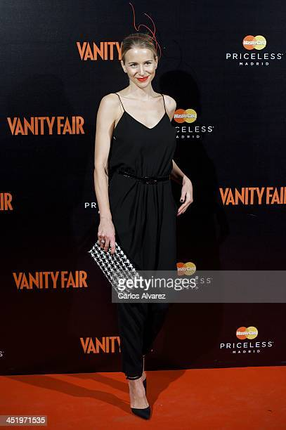 Spanish model Maria Leon attends the 'Cocktail Surrealista' by Vanity Fair Magazine at the Thyssen Museum on November 25 2013 in Madrid Spain