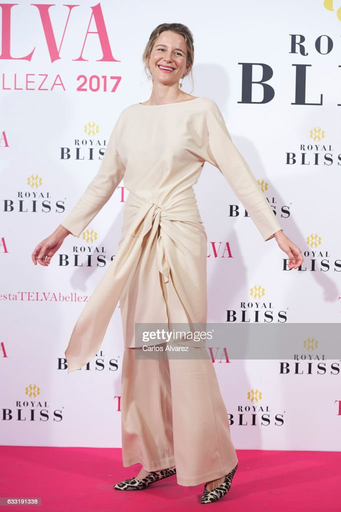Spanish model Maria Leon attends the 'Telva Beauty' awards 2016 at the Palace Hotel on January 31, 2017 in Madrid, Spain.