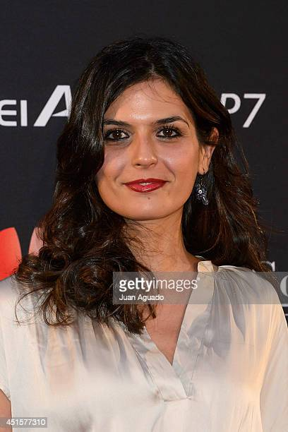 Spanish model Maria Reyes attends the Huawei Ascend P7 cocktail party on July 1 2014 in Madrid Spain