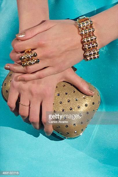 Spanish model Marina Jamieson attends the Telva Magazine Fashion Awards 2013 at the Palacio de Cibeles on December 2 2013 in Madrid Spain