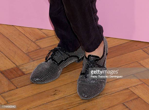 Spanish model Martina Klein 'shoes detail' attends 'La Gran Depresion' premiere at Infanta Isabel Theatre on May 19, 2011 in Madrid, Spain.