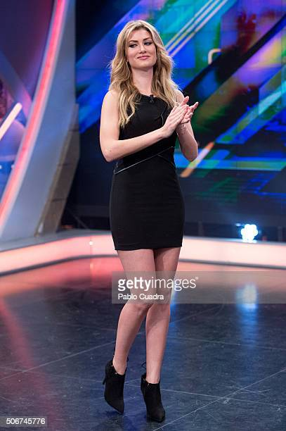 Spanish model Mireia Lalaguna attends 'El Hormiguero' Tv Show on January 25 2016 in Madrid Spain