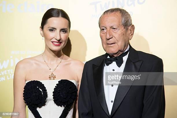 Spanish model Monica de Tomas and Spanish designer Elio Berhanyer attend the Marie Claire Prix de la Moda 2015 at the Callao cinema on November 19...