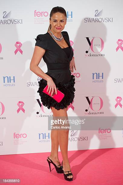 Spanish model Monica Hoyos attends 'Yo Dona Magazine' pink number hosted by Swarovski at NH Eurobuilding Hotel on October 18 2012 in Madrid Spain