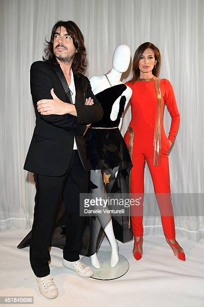 Spanish model Nieves Alvarez and French fashion designer Stephane Rolland attend at Stephane Rolland show as part of Paris Fashion Week Haute Couture...