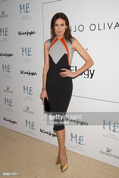 Spanish model Nieves Alvarez attends Juanjo Oliva show for Elegy party at the ME Hotel on February 17 2014 in Madrid Spain