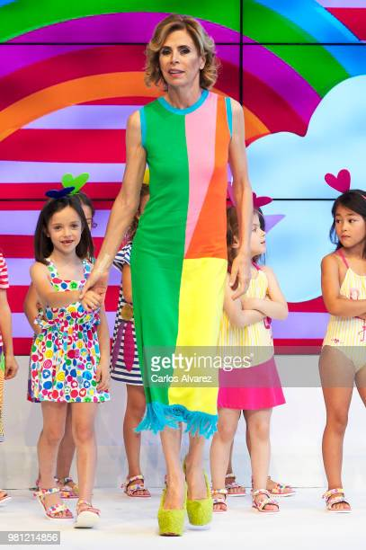 Spanish model Nieves Alvarez attends the NV fashion show during the FIMI Kids Fashion Week on June 22 2018 in Madrid Spain