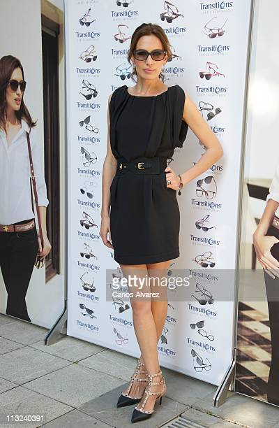 Spanish model Nieves Alvarez presents the new Transitions Optical Photochromic Lenses collection at Hotel Santo Mauro on April 28 2011 in Madrid Spain