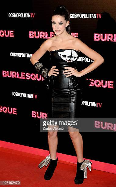 Spanish model Noelia Lopez attends 'Burlesque' premiere at Callao cinema on December 9 2010 in Madrid Spain