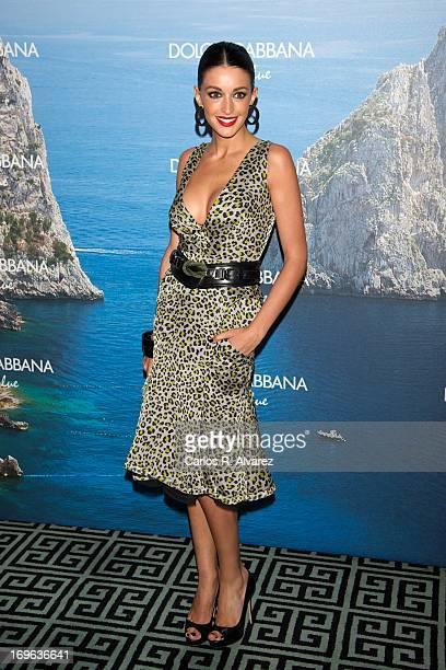 Spanish model Noelia Lopez attends Mediterranean Summer Cocktail By Dolce Gabbana at the Santo Mauro Hotel on May 29 2013 in Madrid Spain