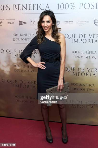 Spanish model Paloma Lago attends 'Lo Que De Verdad Importa' premiere at the Capitol cinema on February 15 2017 in Madrid Spain