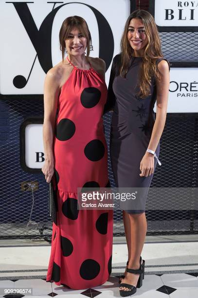 Spanish model Raquel Revuelta and her daugther Claudia Jimenez attend the 'Yo Dona' party at Only You Hotel Atocha on January 23 2018 in Madrid Spain