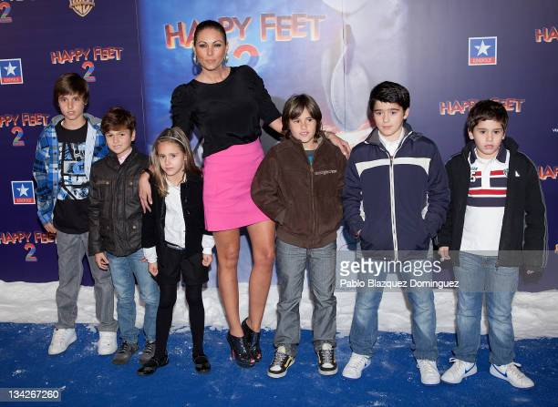 Spanish model Raquel Rodriguez attends 'Happy Feet Two' Premiere at Kinepolis Cinema on November 29 2011 in Madrid Spain