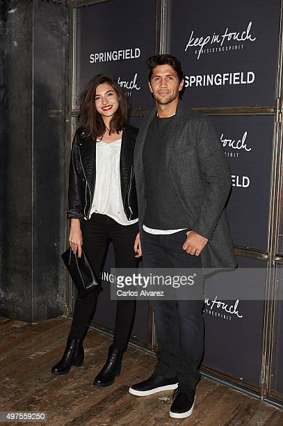 Spanish model Rocio Crusset and Spanish tennis player Fernando Verdasco attend the 'Keep in Touch' Fashion Film presentation at the Luchana Theater...