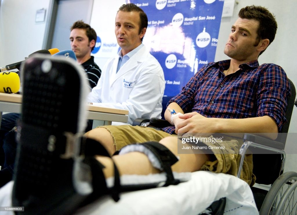 Fonsi Nieto Holds a Press Conference at San Jose Hospital in Madrid