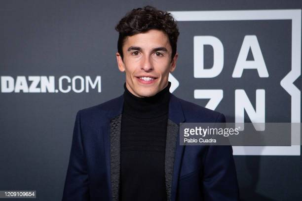 Spanish MotoGP rider Marc Marquez attends DAZN 1st anniversary event at Callao Cinema on February 27, 2020 in Madrid, Spain.