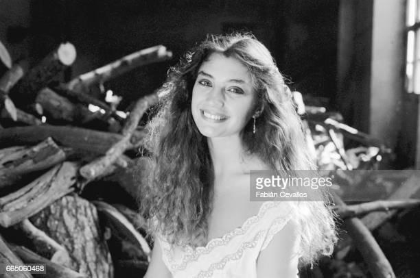 Spanish movie actress Angela Molina in Italy