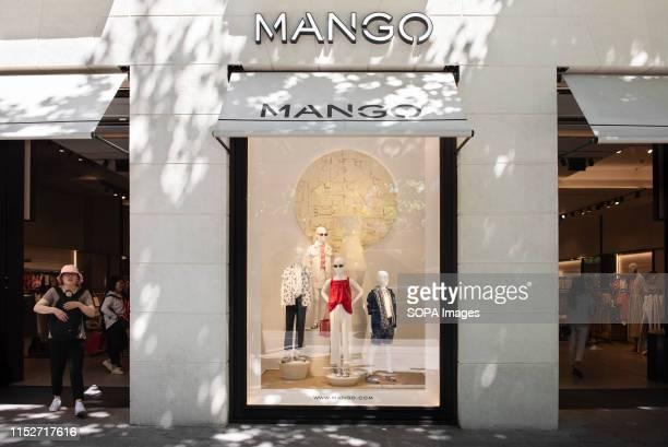 Spanish multinational clothing brand Mango store in Spain