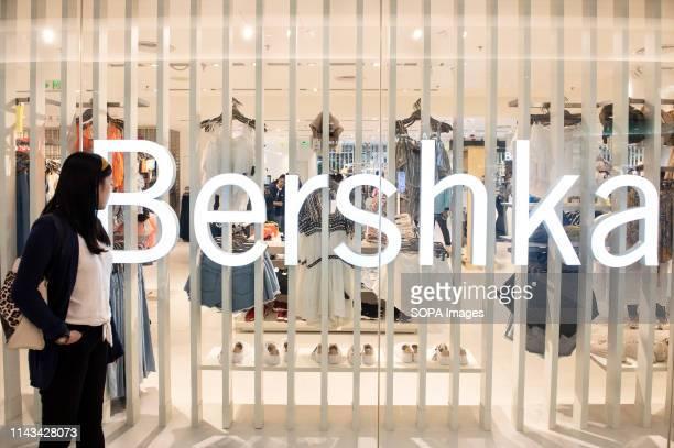 Spanish multinational clothing company brand Bershka store seen in Hong Kong shopping mall