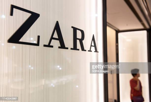 Spanish multinational clothing design retail company by Inditex Zara store and logo seen at Times Square shopping mall in Causeway Bay