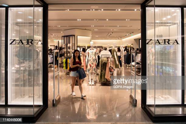 Spanish multinational clothing design retail company by Inditex Zara store seen at Times Square shopping mall in Causeway Bay Hong Kong