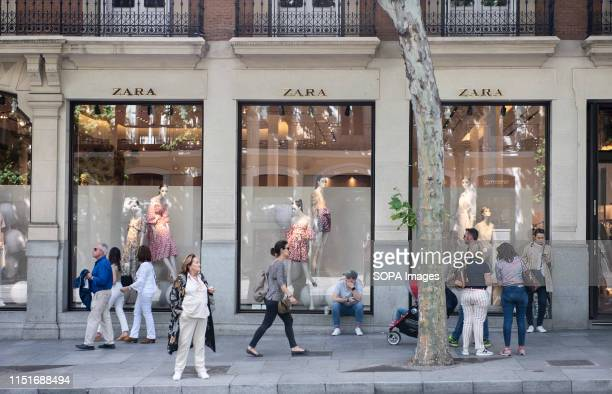 Spanish multinational clothing design retail company by Inditex Zara store seen in Madrid