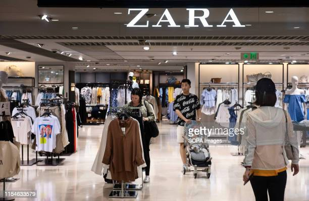 Spanish multinational clothing design retail company by Inditex Zara store seen in Hong Kong
