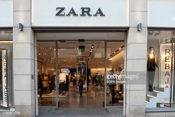 Spanish multinational clothing design retail company by Inditex Zara store seen in Spain