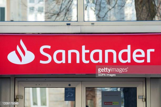 Spanish multinational commercial bank and financial services company, Santander bank branch seen in Zgorzelec.