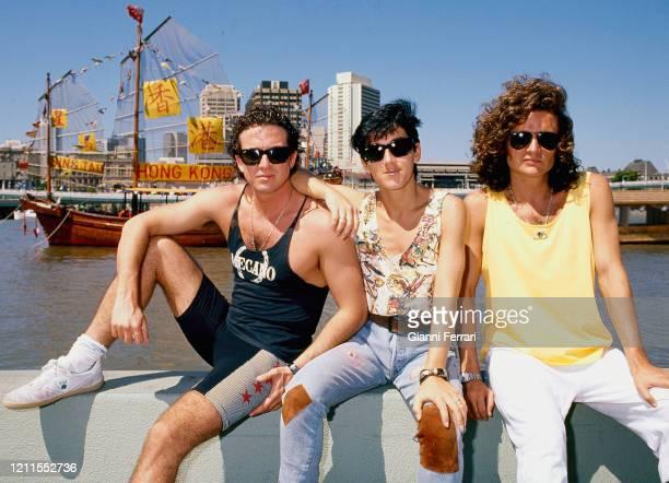 Spanish musical group Mecano, Brisbane, Australia, 1988. .