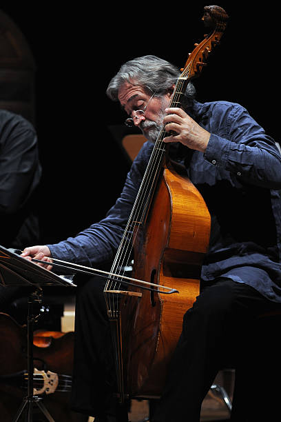 Spanish musician Jordi Savall conduces the Le Concert des Nations in concert for Bologna Festival at Auditorium Manzoni on May 19, 2016 in Bologna, Italy.