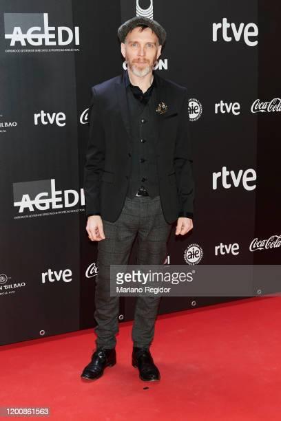 Spanish musician Juan Manuel Álvarez Puig aka Shuarma attends Odeon Awards 2020 at Royal Theater on January 20 2020 in Madrid Spain
