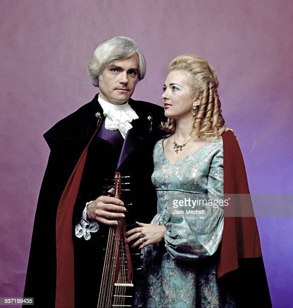 Spanish musicians Rodrigo de Zayas and Anne Perret photographed in March 1974