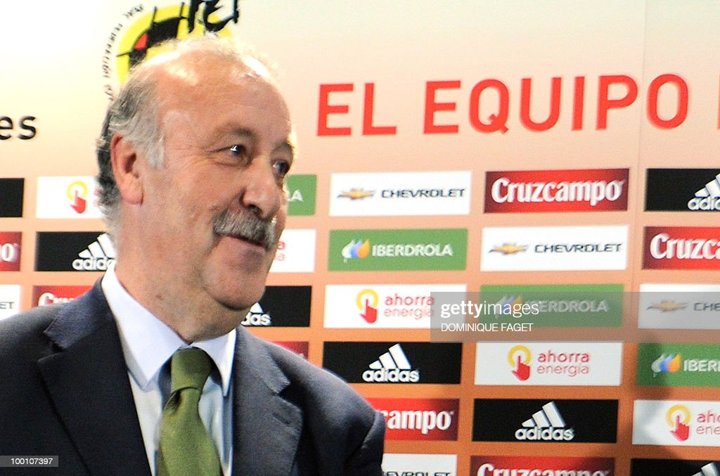 Spanish national football team coach Vicente del Bosque gives a press conference on May 20, 2010 in Madrid to announce the team members selected for the 2010 World Cup squad in South Africa.