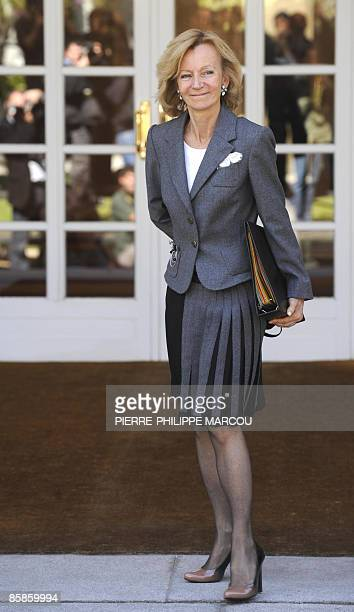 Spanish New Second deputy prime minister and Economy and Finance Minister Elena Salgado arrives at the Moncloa Palace for a cabinet meeting on April...