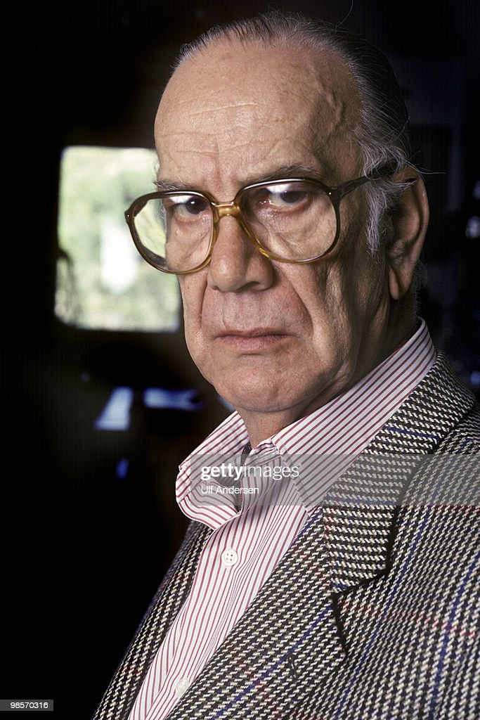 SPAIN - JANUARY 13. Spanish Nobel prize winning writer Camilo Jose Cela poses at home on January 13,1992 in Guadalajara,Spain.