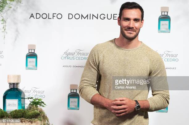 Spanish Olympic Medalist Saul Craviotto presents 'Agua Fresca Citrus Cedro' fragance by Adolfo Dominguez on June 14 2018 in Madrid Spain