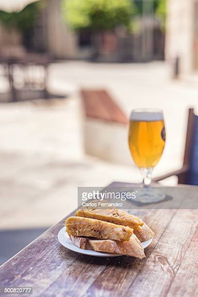 Spanish omelette and beer