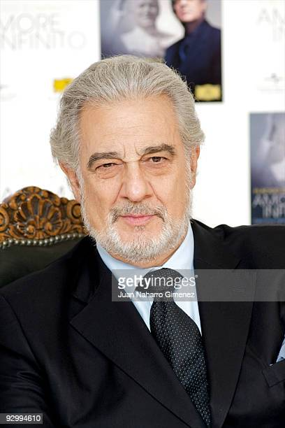 Spanish opera singer Placido Domingo presents his new album 'Amore Infinito' on November 11 2009 in Madrid Spain