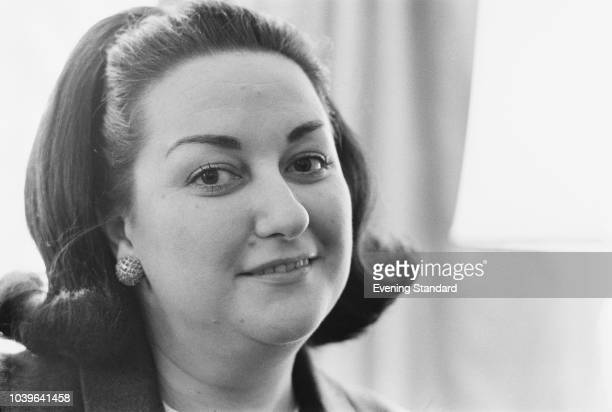 Spanish operatic soprano Montserrat Caballe, UK, 4th July 1968.