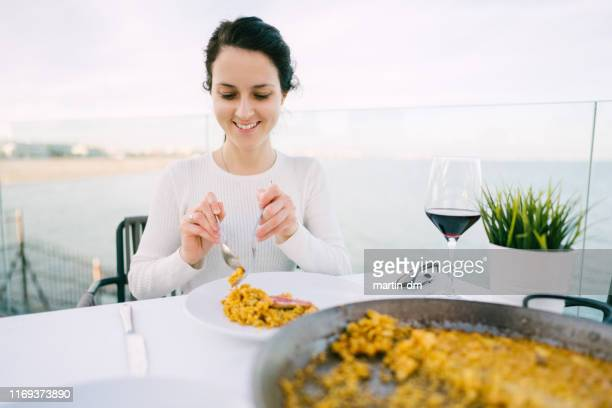 spanish paella - valencia spain stock pictures, royalty-free photos & images