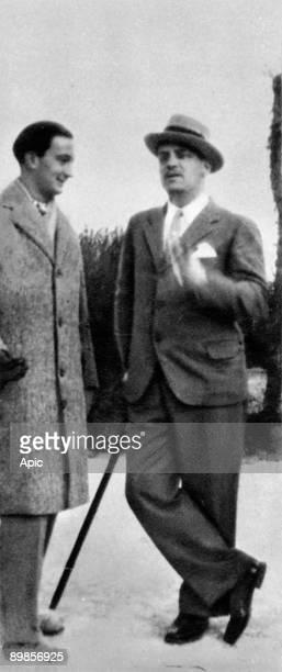 Spanish painter Salvador Dali and Luis Bunuel in Spain in 1928