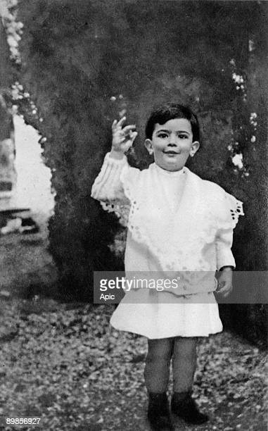 Spanish painter Salvador Dali here as a child c 1906